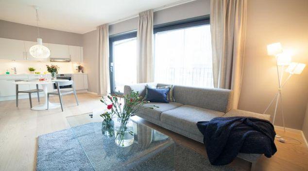 Living room at Opera Apartments
