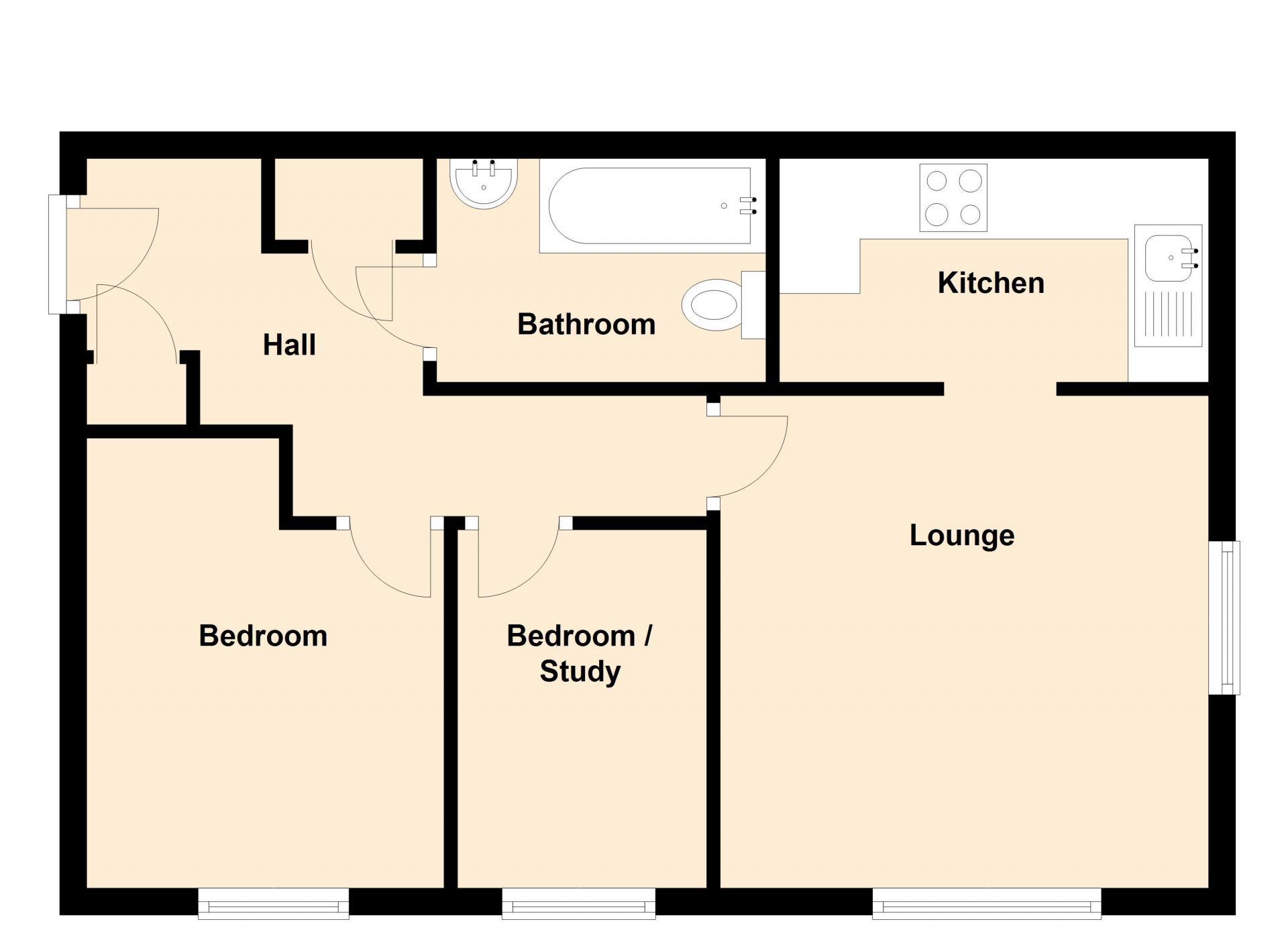 Floor plan in Peterhouse Close Apartments