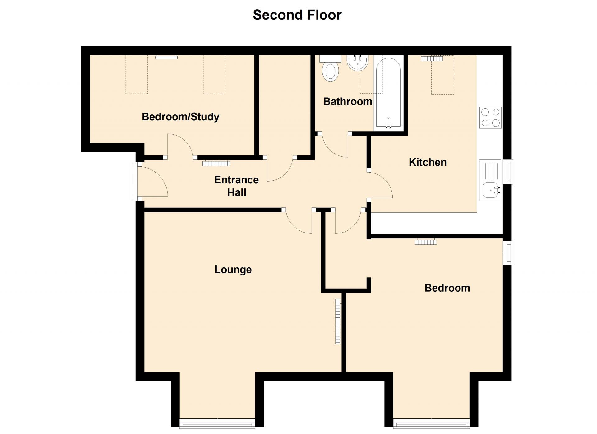 Floor plans in Peterhouse Close Apartments