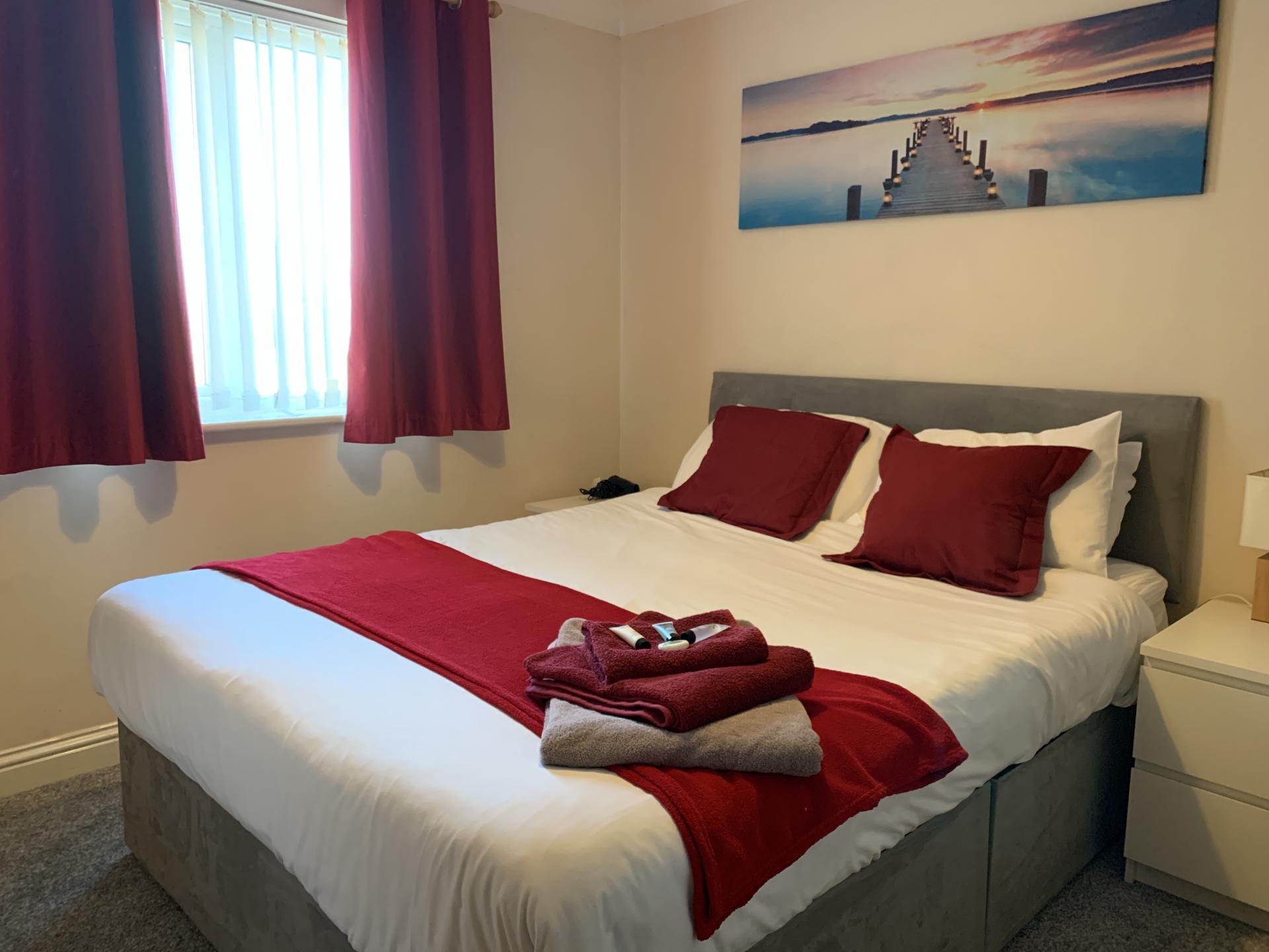 Bedroom in Peterhouse Close Apartments