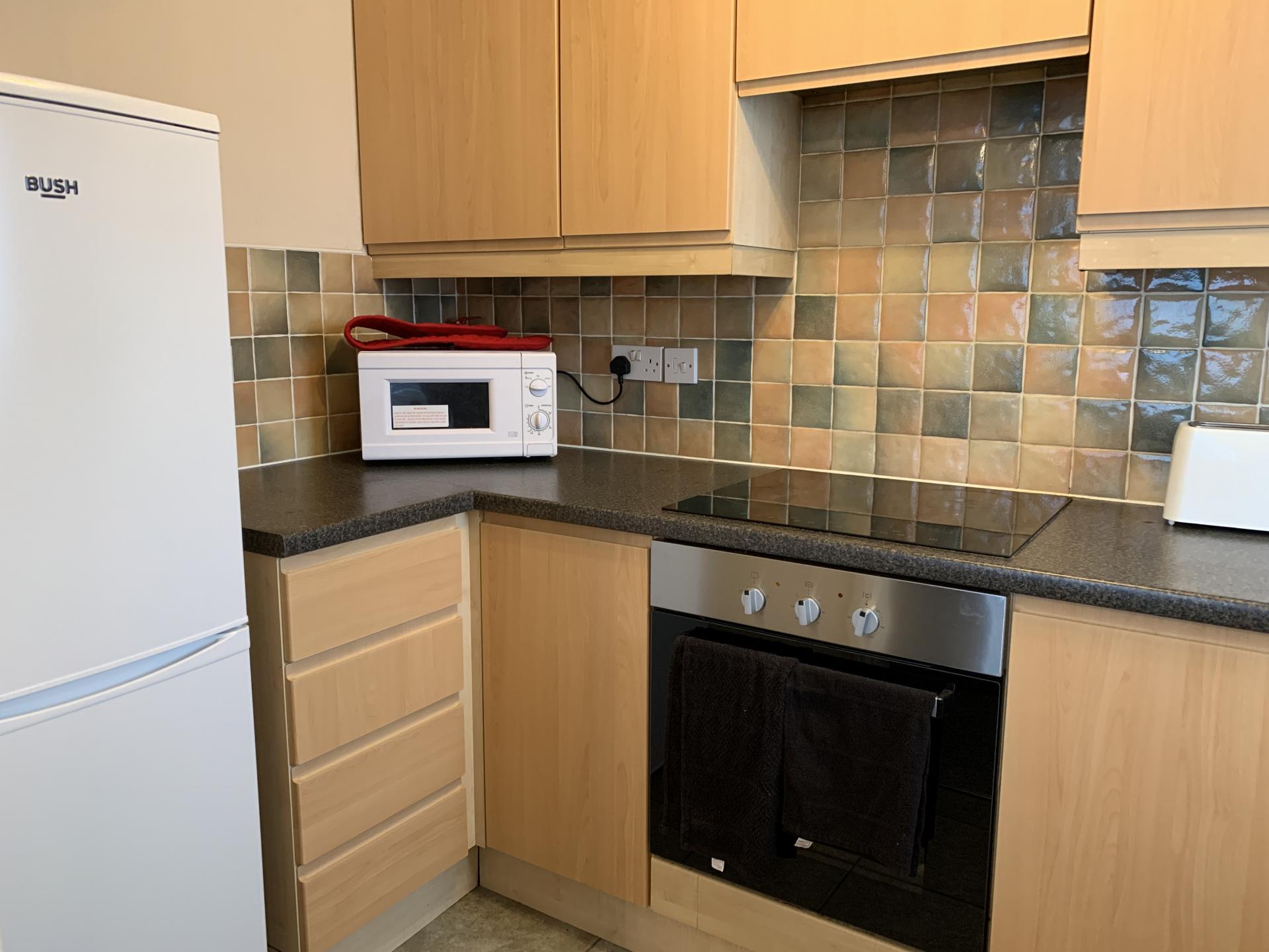 Kitchen area in Peterhouse Close Apartments