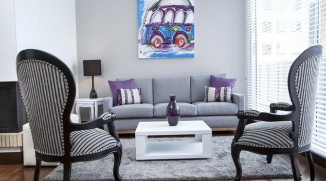 Living area at Navarra Apartments