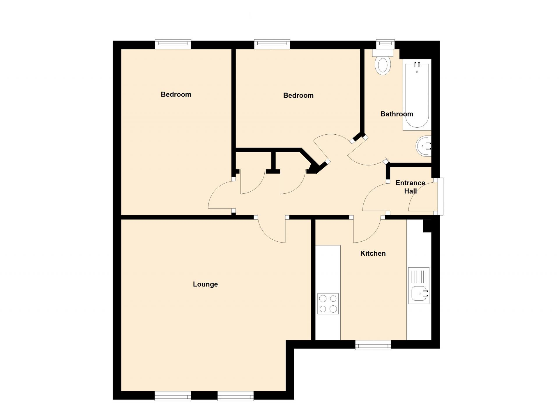 Floor plan 1 at Barley Mews Apartments, Centre, Peterborough