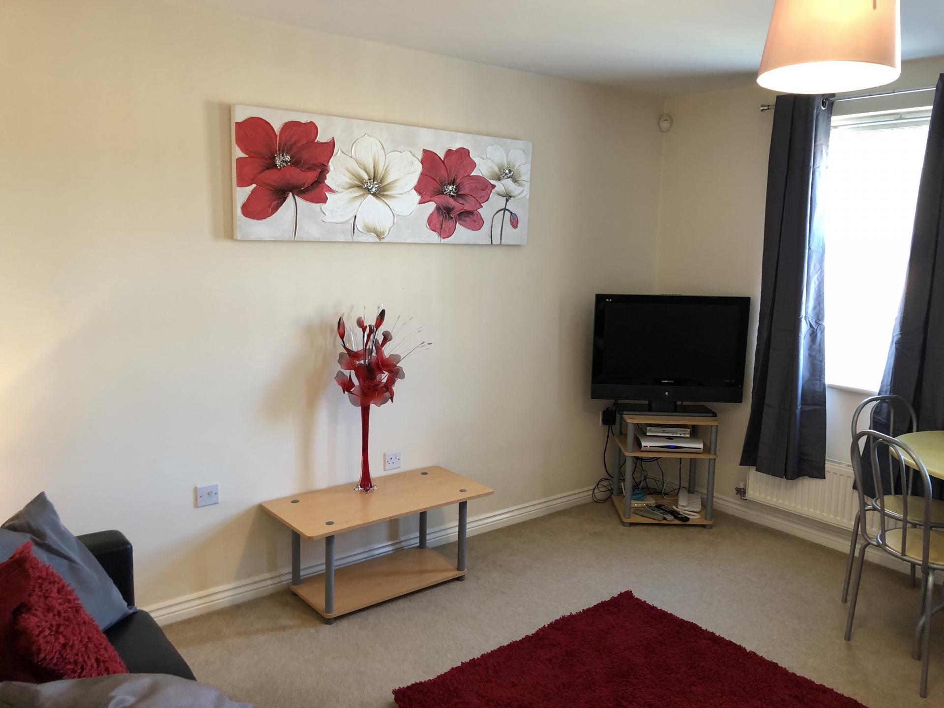 TV at Barley Mews Apartments, Centre, Peterborough