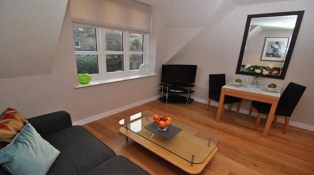 Bright living area at Alexandra Apartments