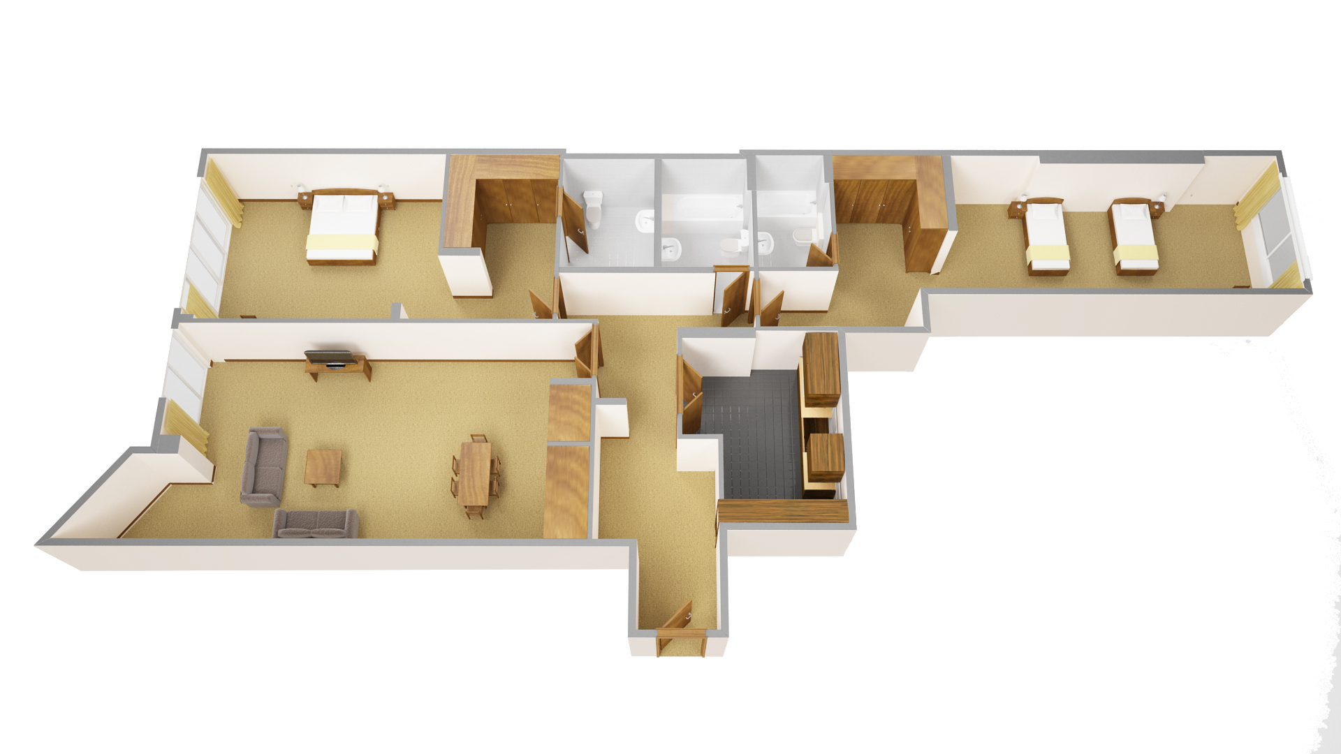 Third floor plan at Sanctum Maida Vale