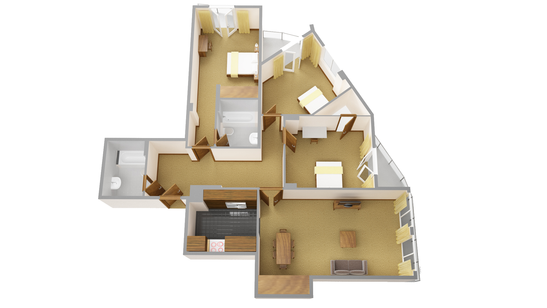 Fourth floor plan at Sanctum Maida Vale