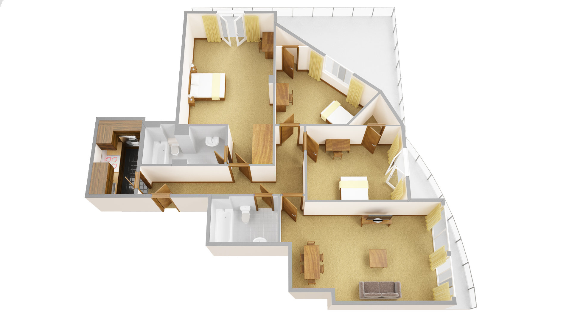 Fifth floor plan at Sanctum Maida Vale