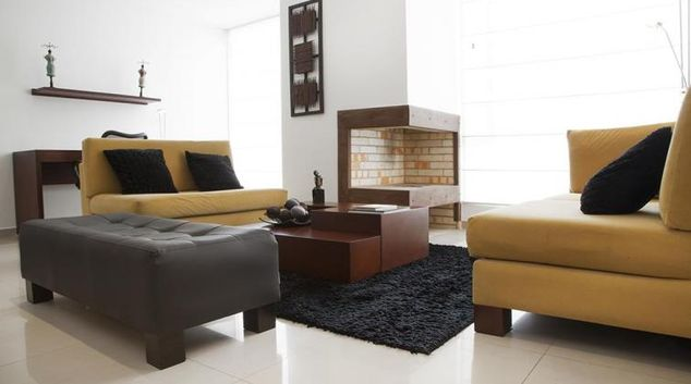Living area at Chico Apartment