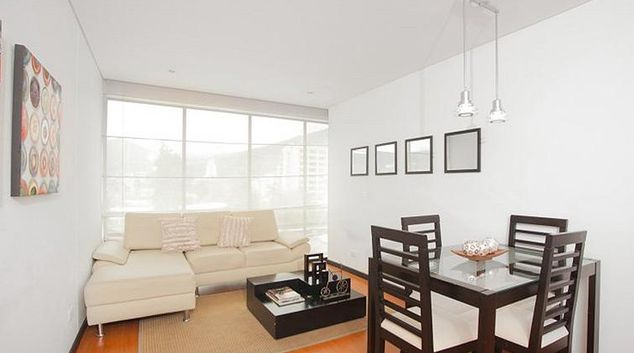 Comfortable living area at Chico Marble Apartment