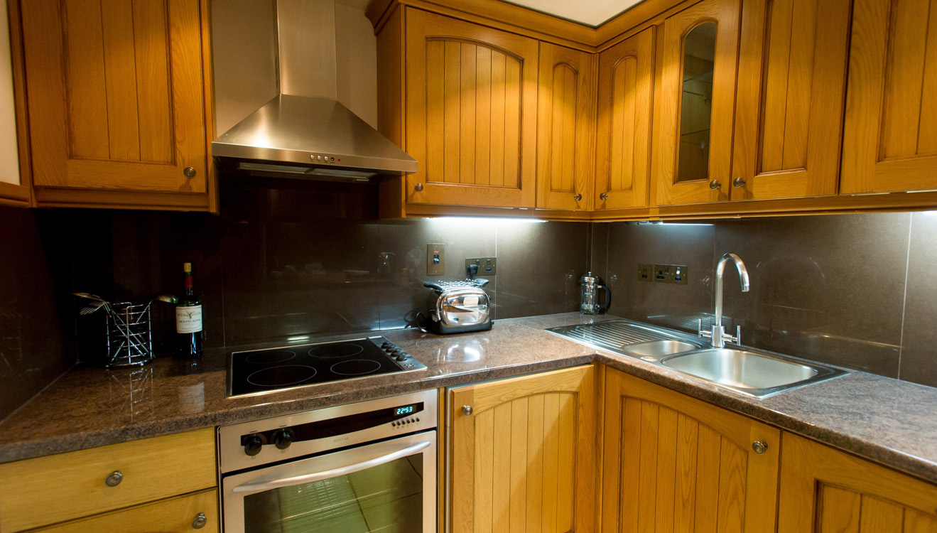 Kitchen at 9 Hertford Street Apartments
