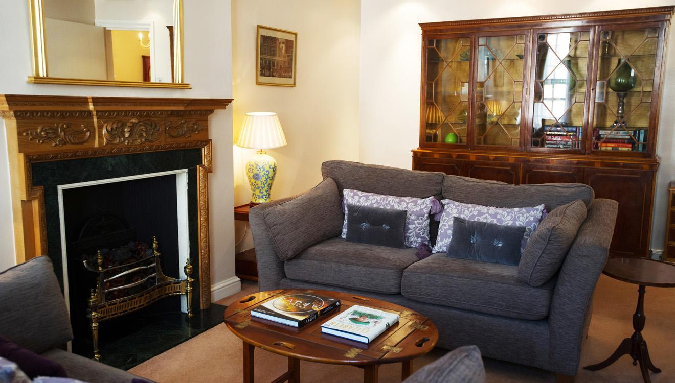 Fireplace at 9 Hertford Street Apartments