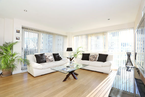 Living room at Kepplestone Apartments