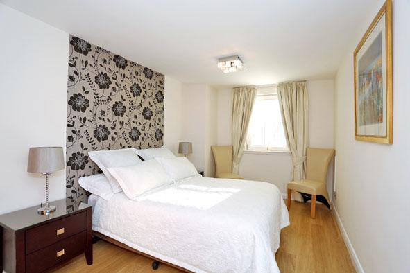 Spacious bedroom at Kepplestone Apartments