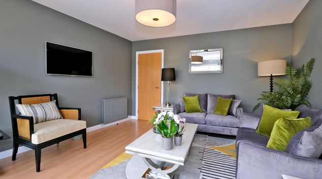 Living room at Kepplestone Apartments, Mannofield, Aberdeen