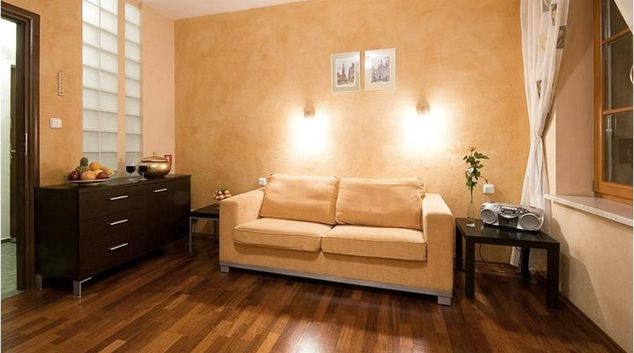 Living area at Dluga Street Apartments