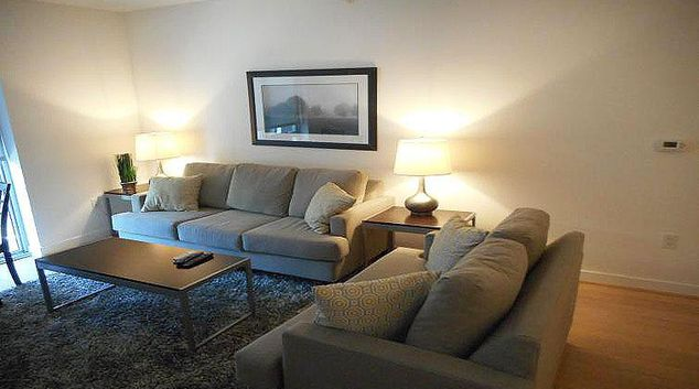 Living area at Weichert Suites Apartments