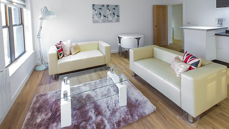 Modern living area at 69 The Avenue Apartments