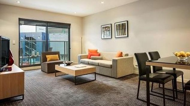 Living area at Quest Docklands
