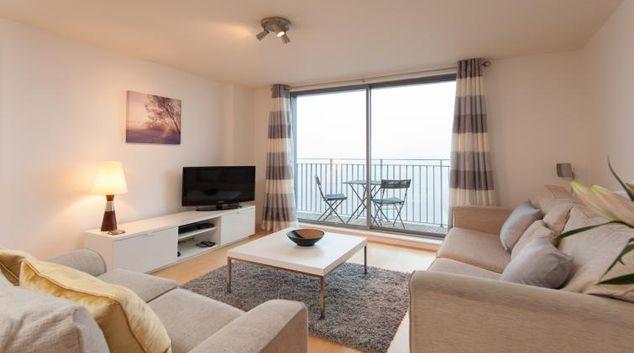 Living area at Vantage Apartment