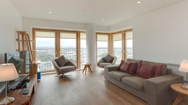 Living area at Argyle Tower Apartments