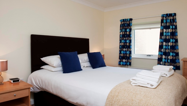 Double bedroom at Market Rise Apartments