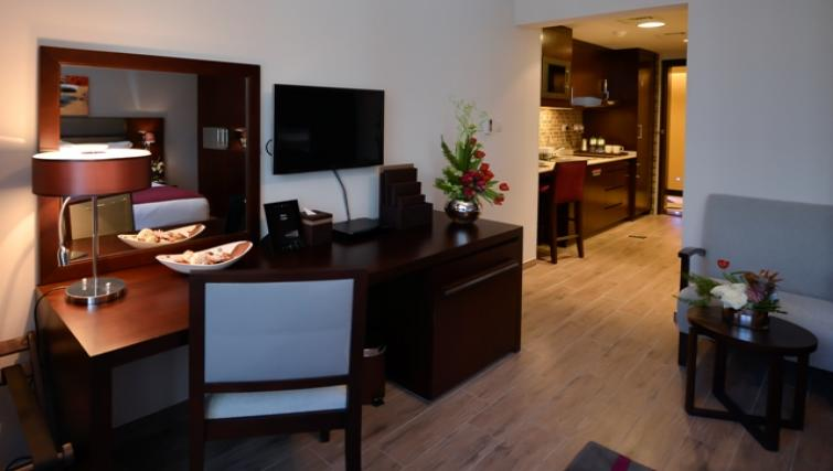 Furnished living area Links Hotel Apartments