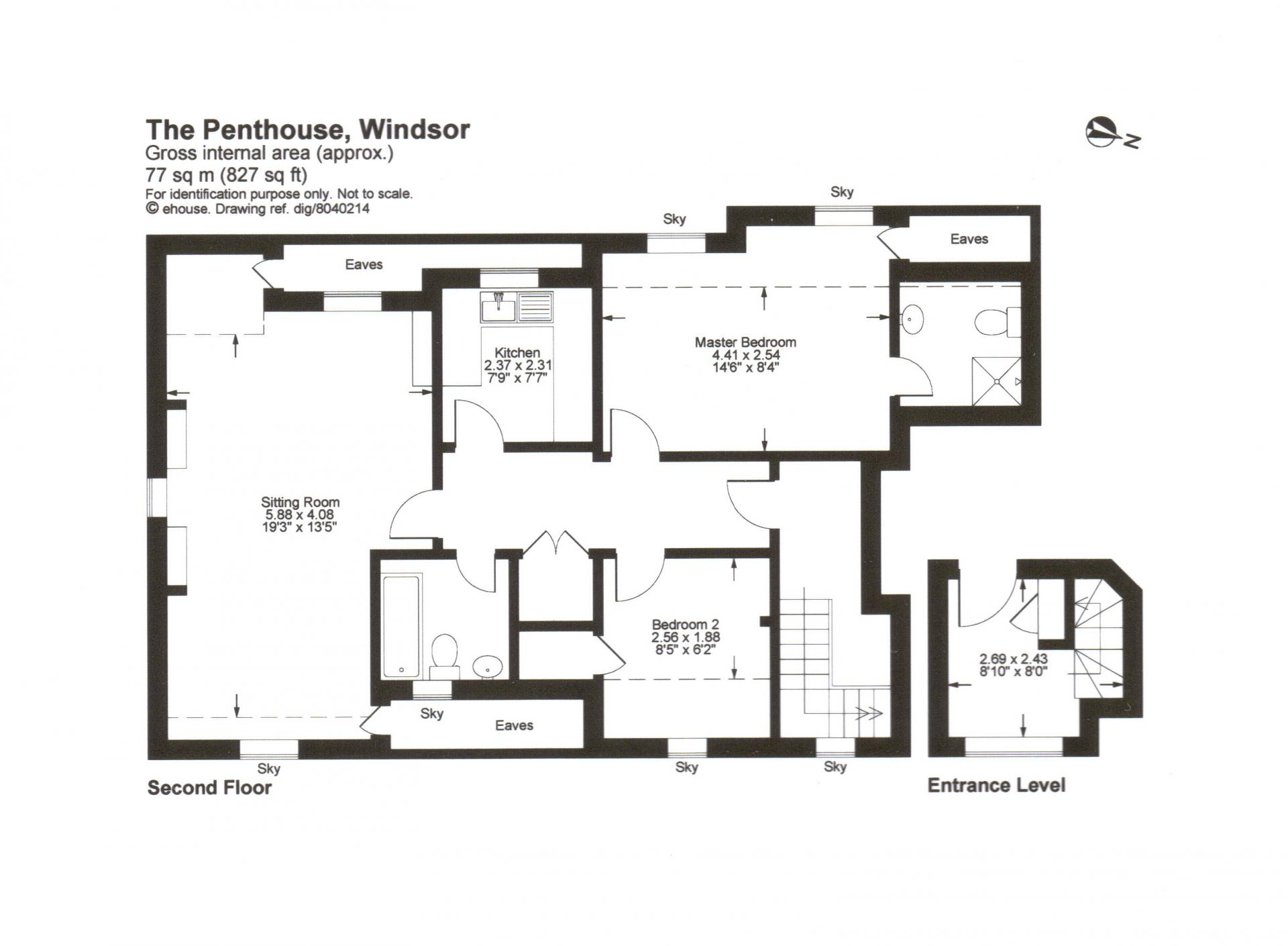 Floorplan 1 at The Courtyard Apartments
