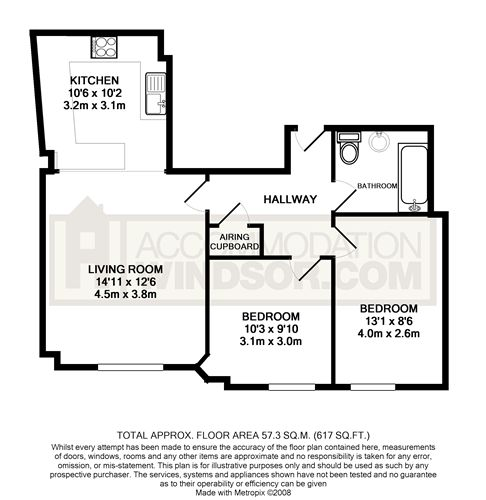 Floorplan 2 at The Courtyard Apartments