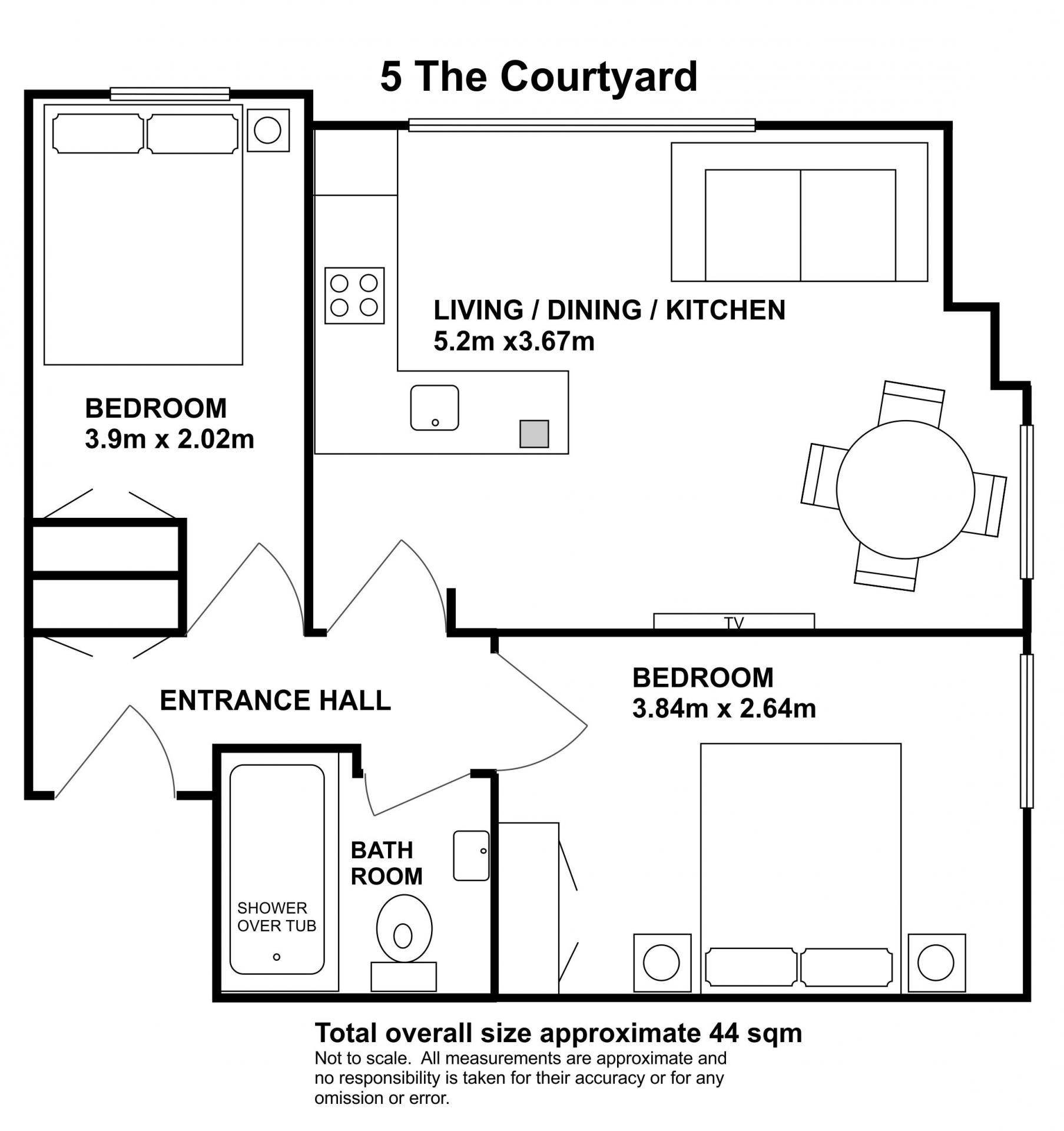 Floorplan 3 at The Courtyard Apartments