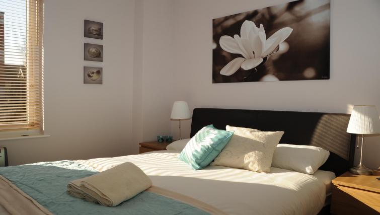 Bright bedroom at The Courtyard Apartments