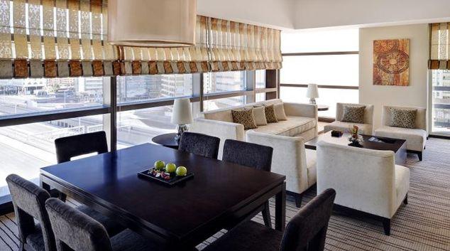 Living area at Southern Sun Abu Dhabi Apartments