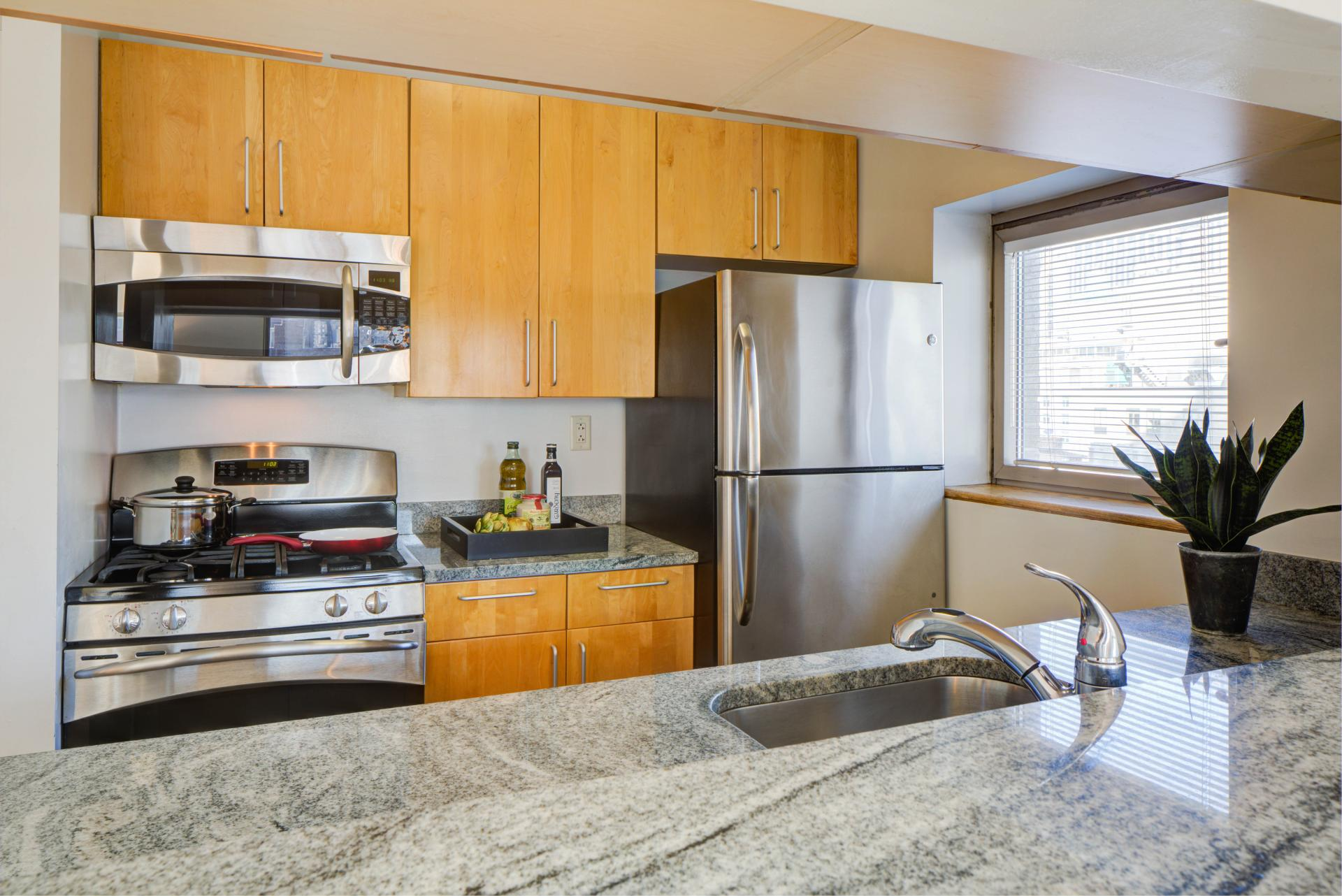 Kitchen at 777 Sixth Avenue Apartments, Chelsea, New York