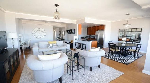 Living area at Hyde Park Apartment