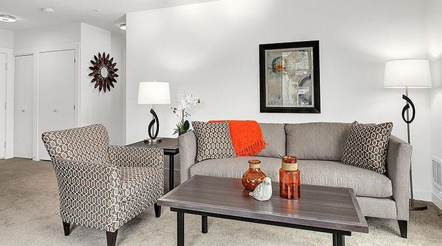 Living area at Domaine Apartments