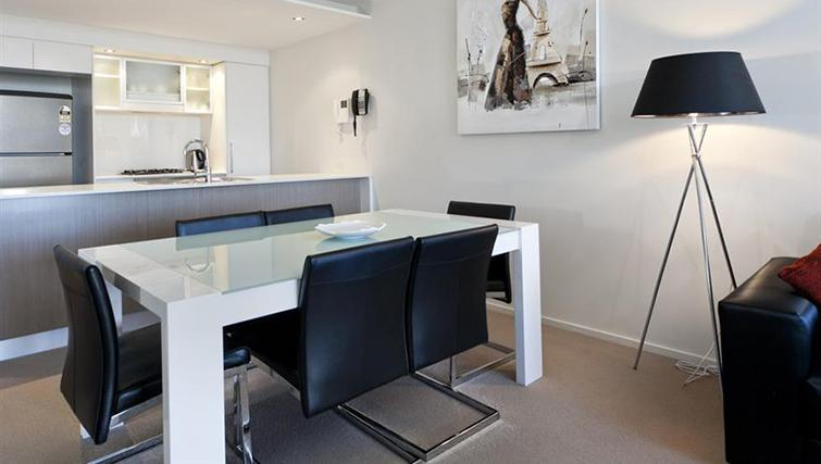 Dining area in 2 bed at Mantra on the Quay