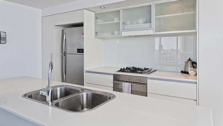 Kitchen in 3 bed at Mantra on the Quay