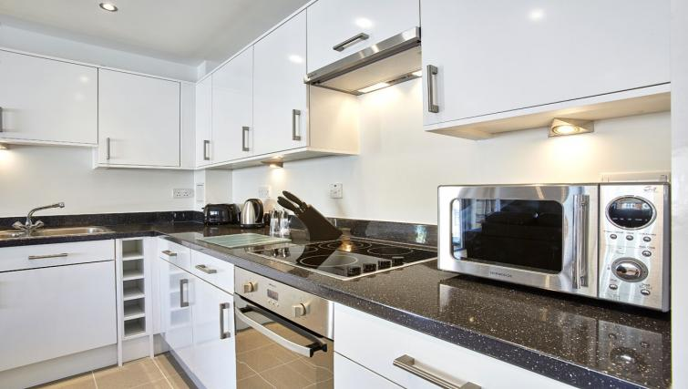 Modern kitchen at Colne Lodge Apartments