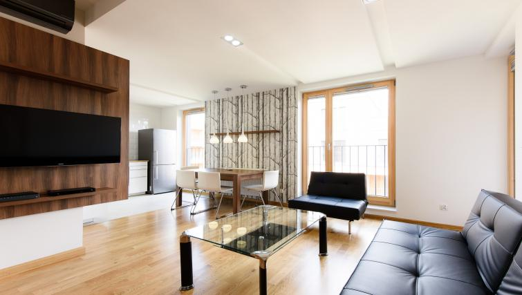 Living area at Brewery Residence