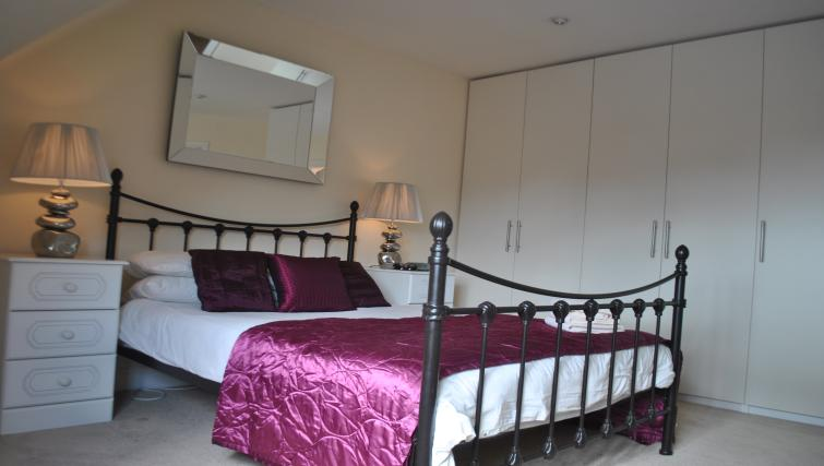 Double bed at St Leonards' Apartment