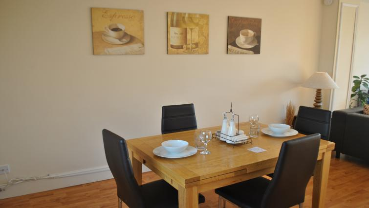 Dining table at St Leonards' Apartment