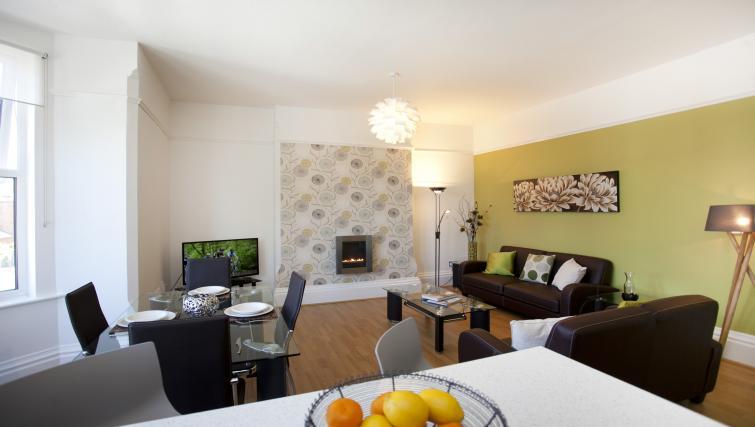Living area at The Mezzo Apartment