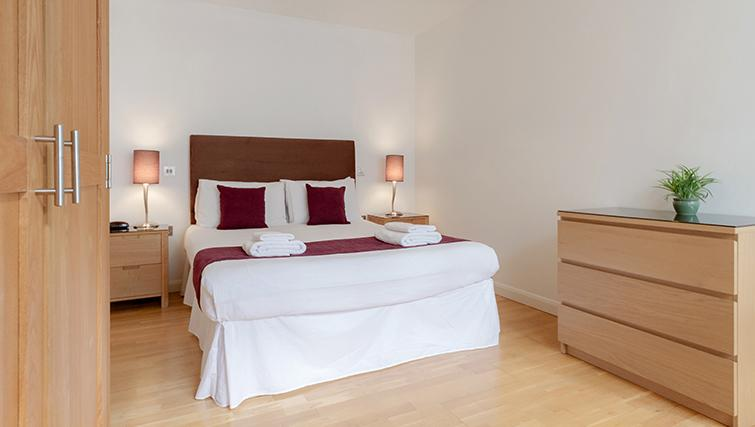 Double bedroom at Groveland Court Apartments