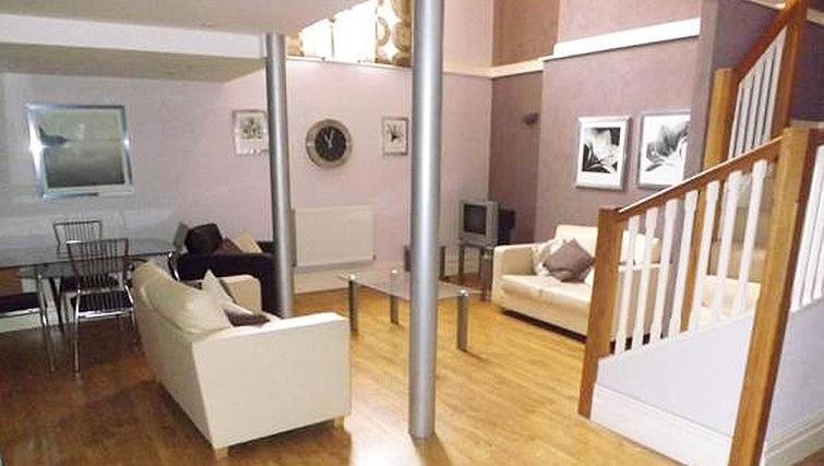 Living area at Winckley Square Apartment