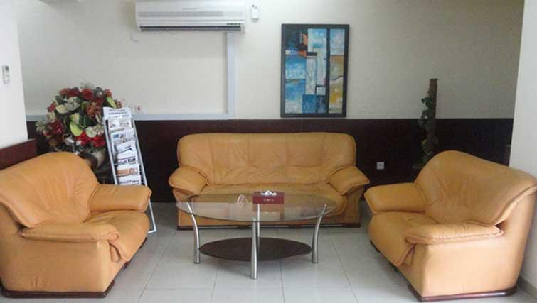 Lobby area at La Villa Inn Apartments