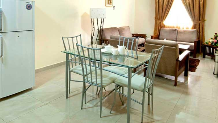 Dining area at La Villa Inn Apartments
