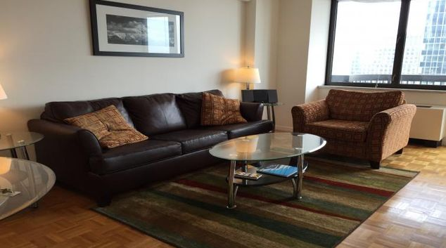 Living area at Symphony House