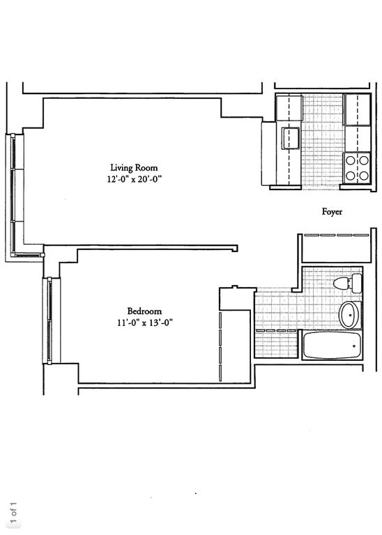 Floor plan at Longacre House