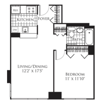Floor plans at New York Ave Apartments