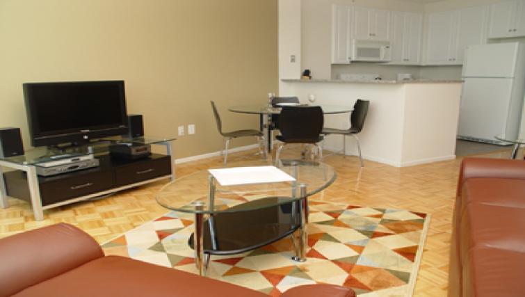 Living room at ABA 70 Greene Apartments
